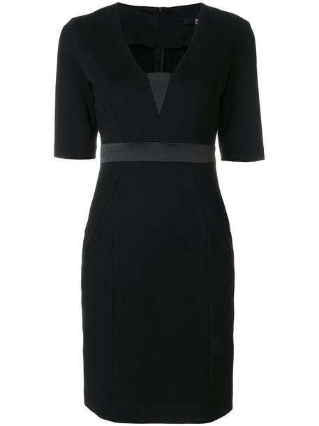 karl lagerfeld dress women spandex black