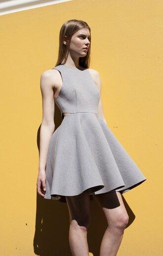 dress skater dress skater skirt dress grey dress