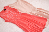 dress,pink,summer,cute,skater dress,powder,coral,cut-out,perfect,both,of,them,perfecto,pink dress,light pink dress,pretty,corail