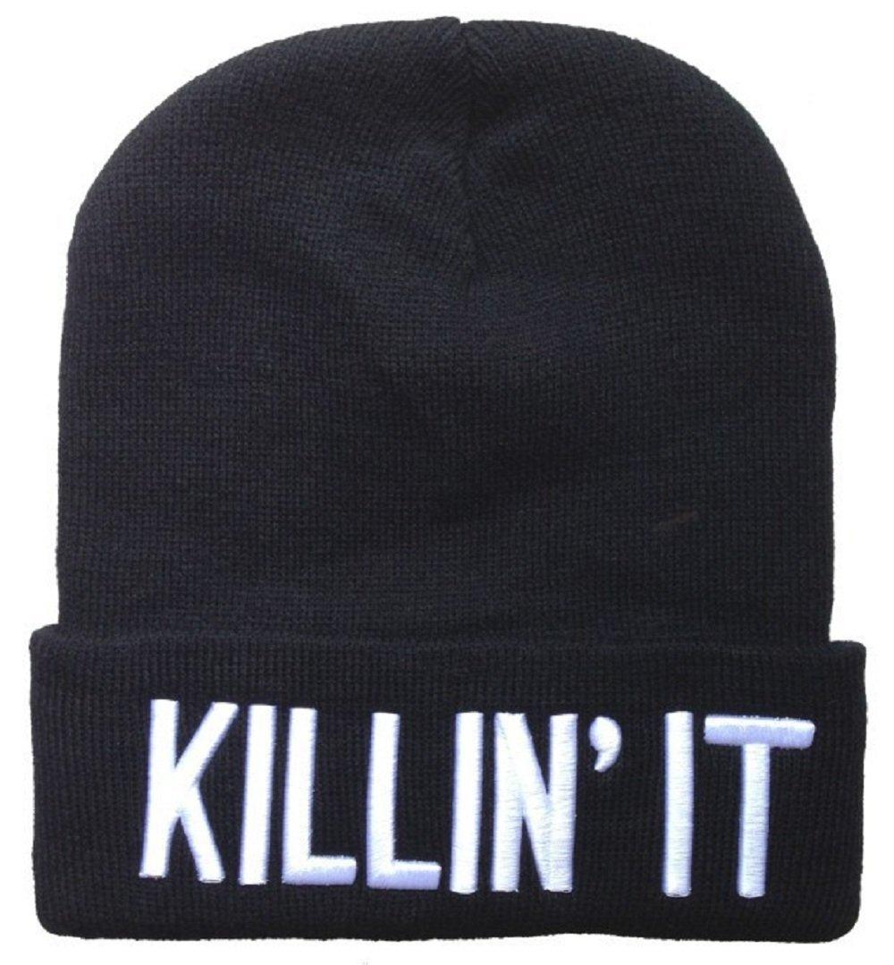 Amazon.com : winter warm knit killin it black beanie hat for men and women winter cap skully : sports & outdoors