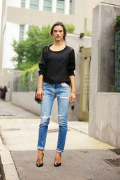 jeans,alessandra ambrosio,fashion week 2014,fall outfits,streetstyle,sweater