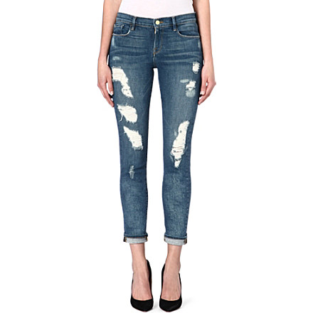 FRAME - Le Garcon distressed jeans | Selfridges.com
