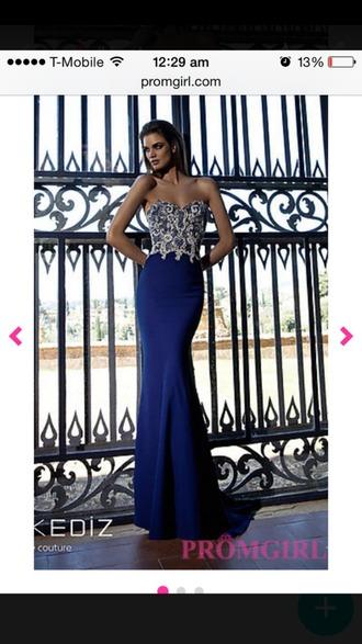 dress prom navy blue dress strapless dress