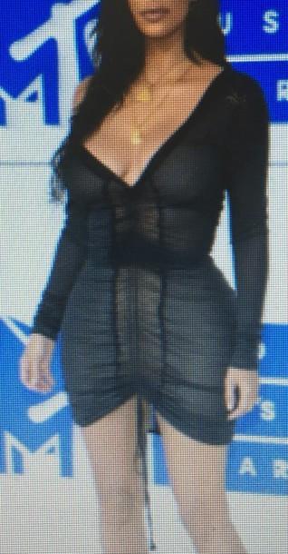 dress black party dress mtv ema awards black dress kim kardashian