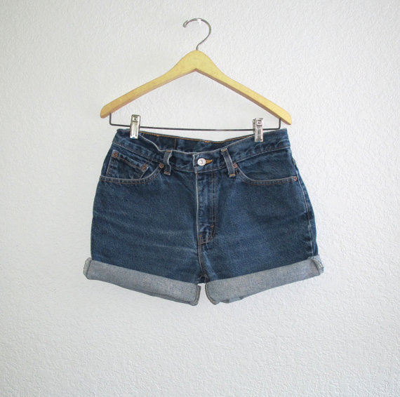 Levi's 517 Slim Fit Shorts Blue Denim W 29 30 door BlueRoseRetro