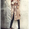 British style long trench coat parka jacket beige nude | awesome world - online store