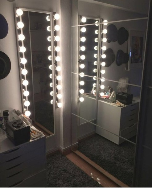 Home accessory illuminated light mirror floor mirror for Long stand up mirror
