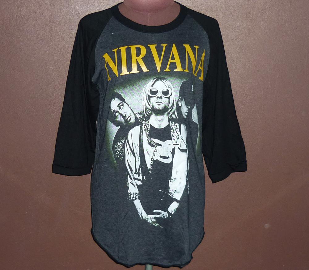 Workout Shirts — Nirvana Shirt. Nirvana T-shirt. Nirvana. Nirvana Smiley T-Shirt. Band Shirt. Concert Shirt.