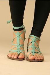 shoes,strappy,sandals,mint,teal,summer,blue sandals,green sandals,cute shoes,light blue sandals,mint green sandals,strappy sandals,summer shoes