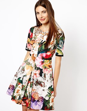 Ted Baker | Ted Baker Dress in Tangled Floral Print at ASOS