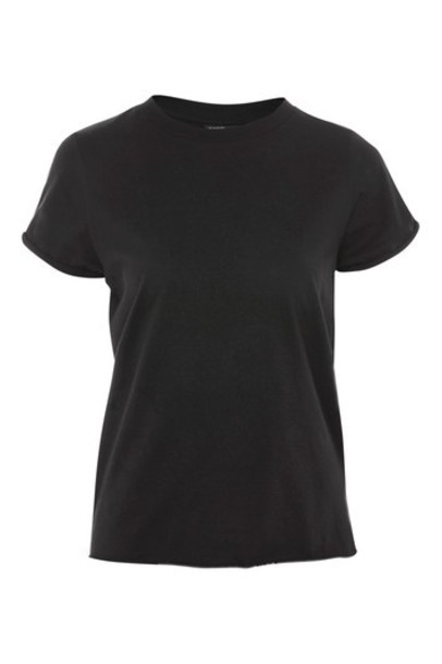 Topshop t-shirt shirt t-shirt back black top