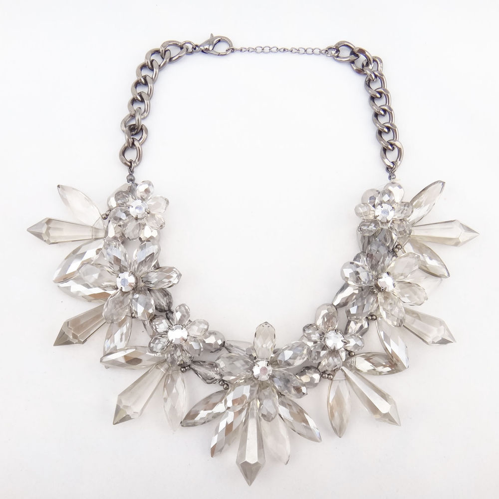 New Design Women Bib Statement Gorgeous Multi Crystal Lady Necklace Collar Hot | eBay
