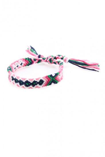 OMG Knitted Bracelet - Pink
