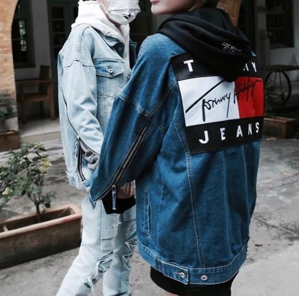 jacket tommy hilfiger denim jacket jeans denim long sleeves