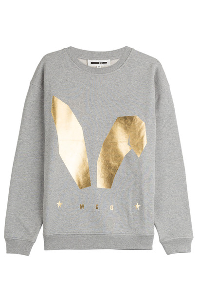McQ Alexander McQueen sweatshirt bunny cotton grey sweater