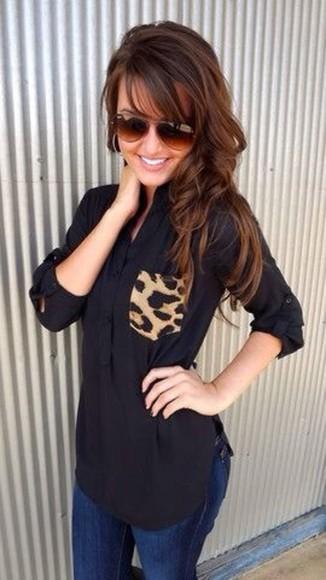 blouse animal print shirt