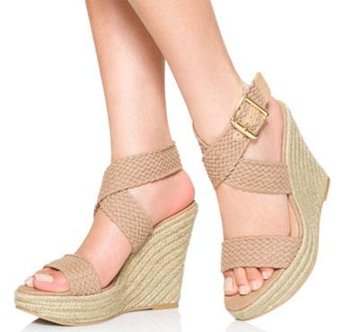Strappy Flat Platform Shoes
