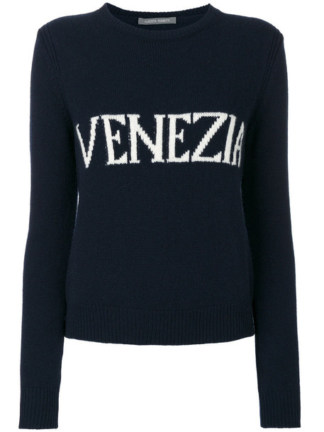 Alberta Ferretti jumper women blue wool sweater