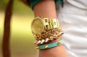 jewels,fashion,gold,jewelry,bracelets,watch,spine,trendy,classy,style