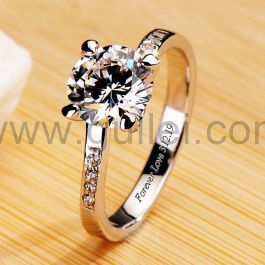 1.5ct Diamond Womens Promise Ring with Name