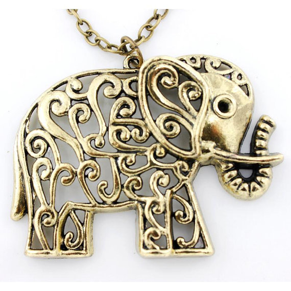 Retro hollow carved cute elephant necklace [kz32] - $2.99 : Fashion jewelry promotion store,Supply all kinds of cheap fashion jewelry