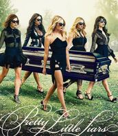 blouse,skirt,black dress,dress,all black everything,shay mitchell,ashley benson,lucy hale,sandals,alison dilaurentis,emily fields,aria montgomery,hanna marin,spencer hastings,troian bellisario,sasha pieterse,pretty little liars,black