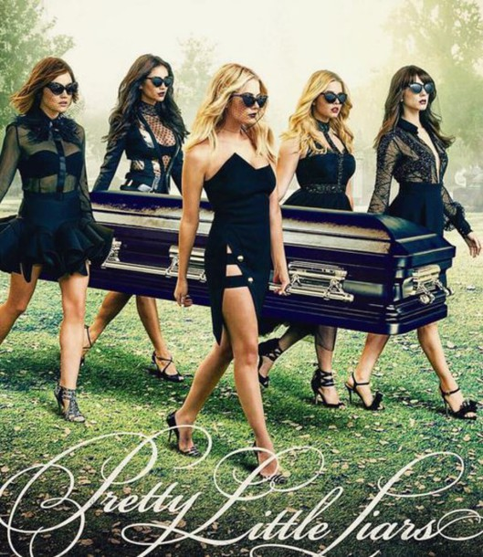 blouse skirt black dress dress all black everything shay mitchell ashley benson lucy hale sandals alison dilaurentis emily fields aria montgomery hanna marin spencer hastings troian bellisario sasha pieterse pretty little liars black