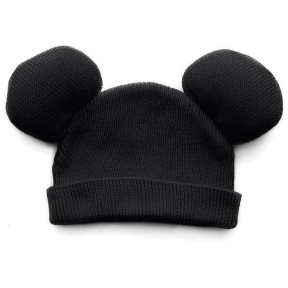 disney black mickey mouse hat beanie