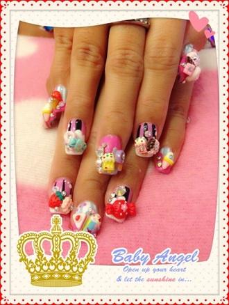 nail accessories nails kawaii japanese korean asian 3d nails