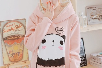 sweater panda light pink kawaii