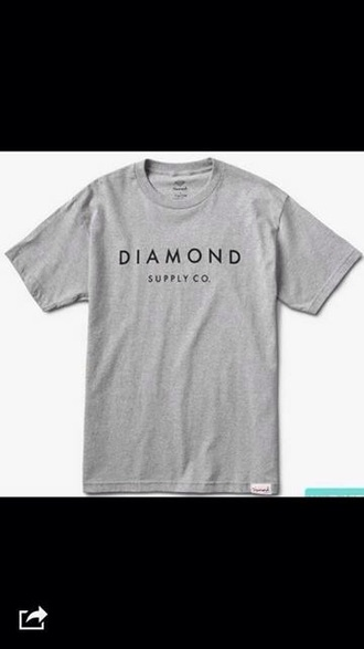 shirt diamonds grey supply co. grey shirt grey diamond grey diamond supply co. diamond supply co.