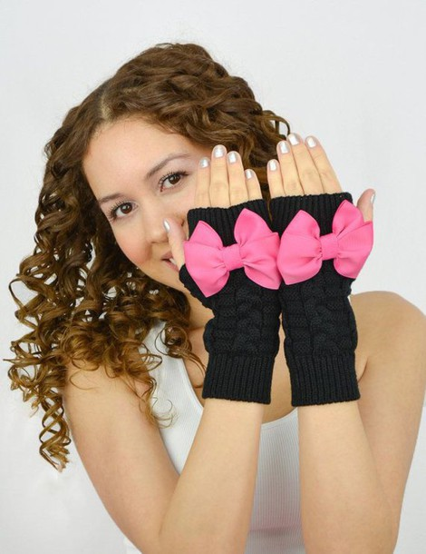 gloves bow gloves