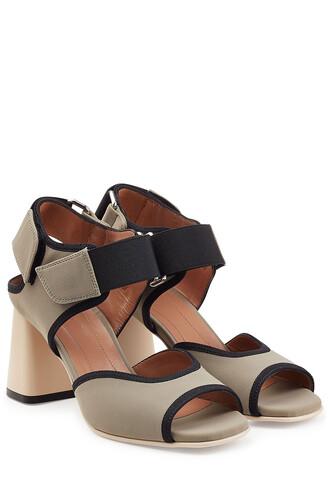 colorblock sandals grey shoes
