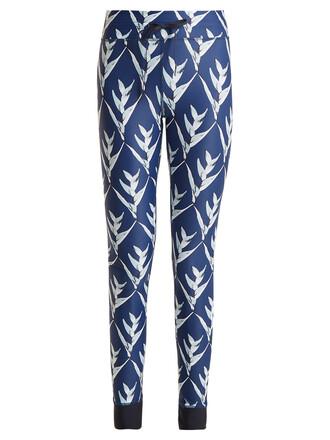 leggings print navy pants