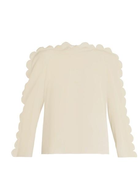 Fendi blouse beige top