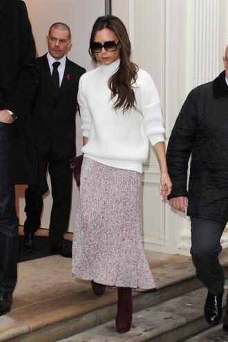 sweater skirt victoria beckham purse bag