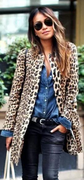 animal print leopard print animal print coat