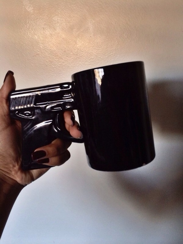 mug home accessory cup tumblr gun black