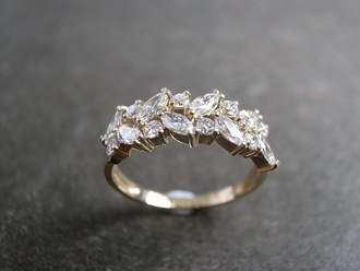jewels ring jewelry silver diamonds leaves beautiful gold engagement ring