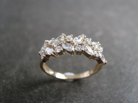 jewels ring engagement ring silver diamonds leaves beautiful jewel gold