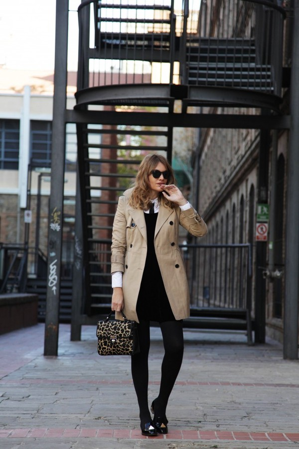 my daily style shirt dress coat bag shoes