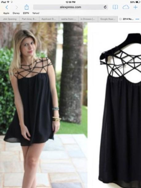 c3a8c0510a dress shift dress cami camisole nastygal cute dress chic black mini dress  summer dress cut-