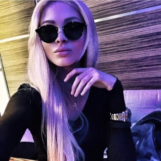 sunglasses black sexy summer alena shishkova trendy