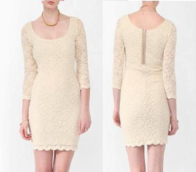 Nwt Forever 21 Love21 All Over Lace Sweater Dress Ivory Cream Sz Xs