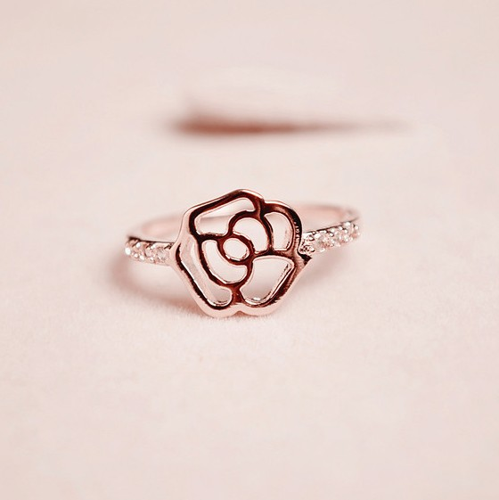 Fashion Rose Metal Ring_Ring_Jewellery_Cheap Clothes,Cheap Shoes Online,Wholesale Shoes,Clothing On lovelywholesale.com - LovelyWholesale.com