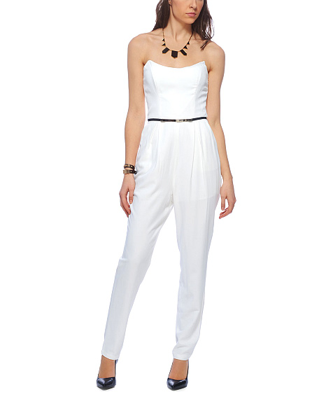 Keepsake 'playing with fire' strapless jumpsuit