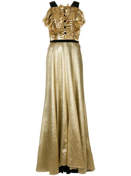 Philosophy di Lorenzo Serafini dress women silk grey metallic