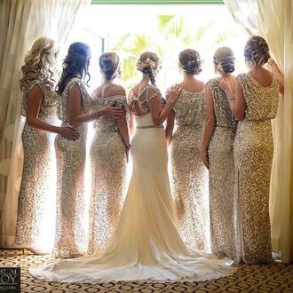 dress bridesmaid evening dress long bridesmaid dress bridesmaid dress with slit sequined bridesmaid dress