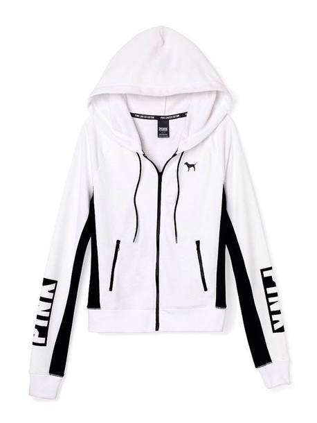 shirt victoria's secret white hoodie
