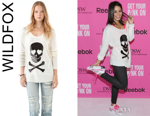 Vanessa Hudgens' Wildfox Sequin Love Skull Sweater » Red Carpet Fashion Awards